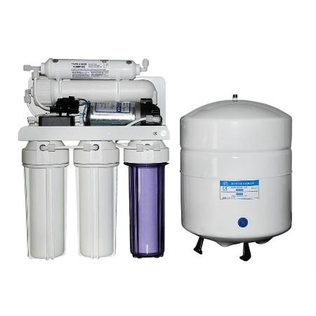 Açık kasa Pompalı 5 aşamalı 12 litre tezgah altı su arıtma