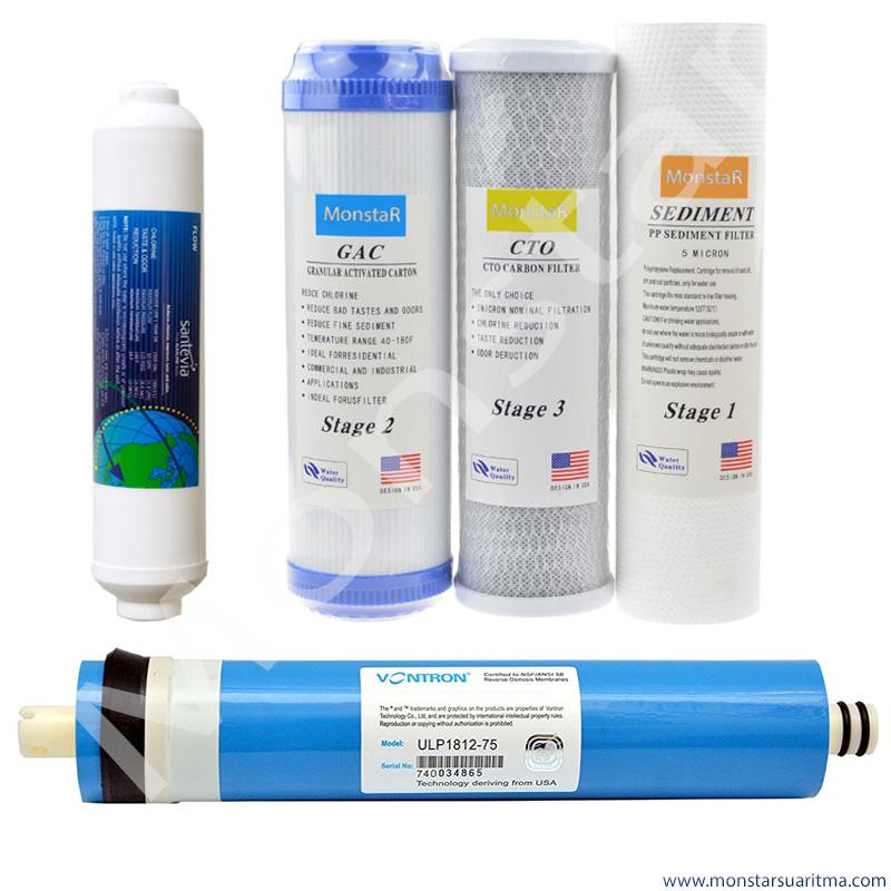 Açık kasa su arıtma cihazı 5li filtre seti
