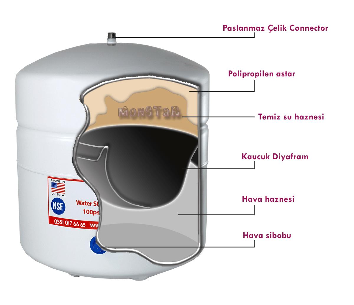 8 litre su arıtma depo